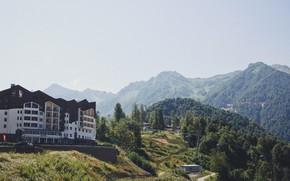 Picture mountains, stay, Sochi, sochi, Rosa Khutor, roza khutor, Adler