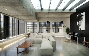 Picture design, portrait, the room, Loft, Livingroom