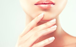 Picture lips, nails, skin