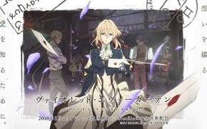 Picture anime, violet evergarden, post office, envelope