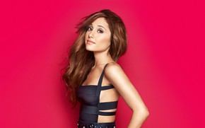 Picture background, portrait, makeup, hairstyle, outfit, singer, brown hair, Ariana Grande, Ariana Grande