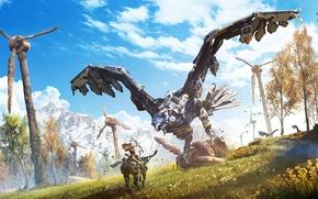 Picture Sony, Art, PS4, Horizon: Zero Dawn, Aloy