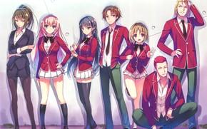 Picture girl, anime, boy, asian, manga, sensei, oriental, asiatic, tie, bishojo, seifuku, light novel, japonese, Youkoso …
