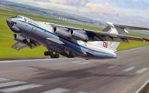 Picture figure, Zhirnov, Ilyushin design Bureau, Il-76MD, heavy military transport aircraft