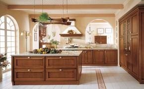 Picture design, Villa, interior, kitchen