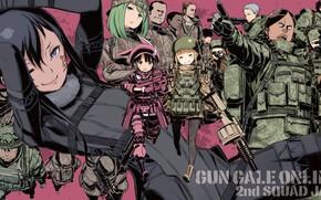 Picture weapons, soldiers, Sword art online, Sword Art Online, Sword Art Online Alternative: Gun Gale Online