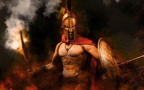 Picture background, toy, Leonid, 300 Spartans