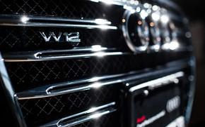 Wallpaper Audi, Cars, Chrome, W12