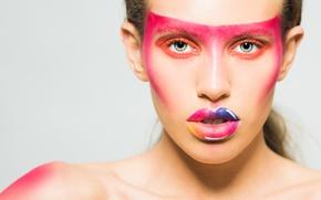 Picture look, girl, makeup, lipstick