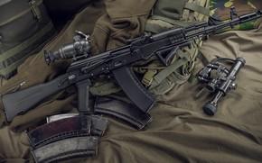 Picture weapons, machine, weapon, Kalashnikov, AK-74, assault Rifle