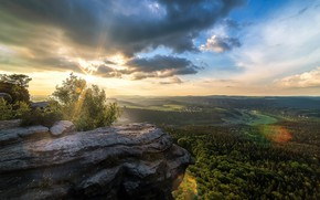 Picture nature, rock, morning, panorama