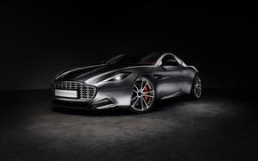 Picture Aston Martin, Black background, Silver, Thunderbolt, 2015, galpin