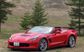 Picture red, background, Chevrolet, red, convertible, car, cabriolet