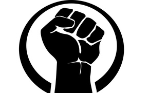 Picture logo, black, hand