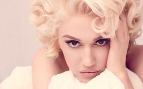 Picture eyes, look, face, hair, blonde, lips, Gwen Stefani