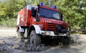Picture Mercedes-Benz, dirt, truck, Unimog, U5000