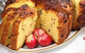 Wallpaper Easter, cake, cakes, eggs