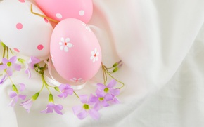 Wallpaper decoration, Easter, pink, Easter, Happy, the painted eggs, spring, eggs, flowers, flowers
