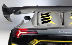 Picture Lamborghini, headlight, racing car, Huracan, Super Trophy Evo