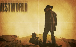 Picture the series, poster, Westworld, The world of the wild West