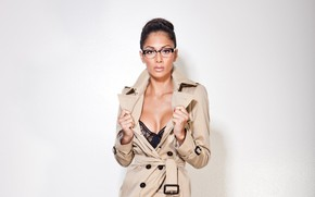 Picture glasses, singer, Nicole Scherzinger, celebrity