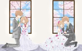 Picture pair, girl, guy, Card Captor Sakura, Sakura - collector cards