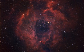 Picture space, stars, Rosette Nebula