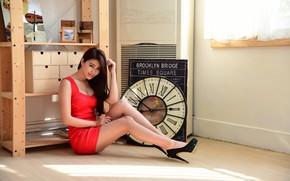 Picture look, room, watch, dress, Oriental girl