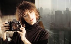 Picture girl, portrait, camera