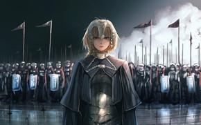 Picture girl, sword, fantasy, armor, anime, army, painting, digital art, artwork, warrior, fantasy art, cloak, knight, …