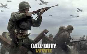 Wallpaper Call of Duty: WWII, Activision, TheVideoGamegallery.com, Game