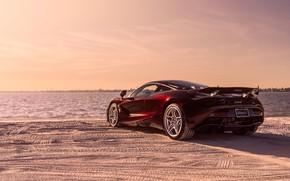 Picture beach, McLaren, supercar, rear view, 2018, MSO, 720S