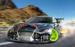 Picture Aston Martin, Auto, Tuning, Drift, Car, Car, Auto, Aston Martin, Tuning, DizePro