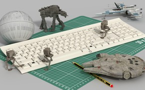 Picture toys, Keyboard, star wars