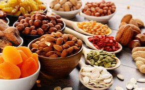 Picture Nuts, Cuts, Seeds, Dried fruits