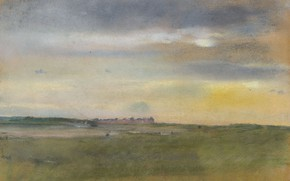 Picture picture, Edgar Degas, Edgar Degas, Landscape. Sunset