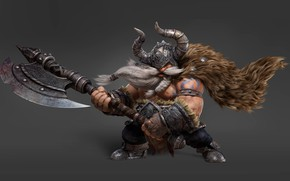 Picture art, Viking, Moky lin, 3D Character