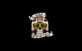 Wallpaper Star Wars, sake, logo, death, pilot, pearls, teeth, Rebel Alliance, SW, fighter pilot, Alliance for ...