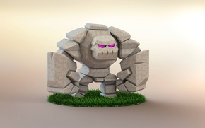 Wallpaper rock, Clash Of Clans, golen, game
