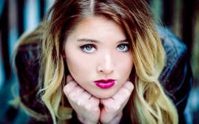 Picture eyes, girl, face, hair, lipstick