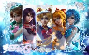 Picture anime, art, Sailor Moon, Sailor Moon, sunmomo 珊