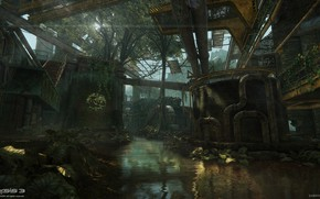 Picture pipe, channel, object, East River, Crysis 3 MP