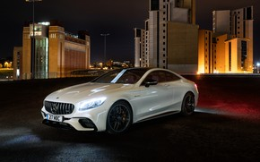 Wallpaper lights, Mercedes-Benz, AMG, Coupe, 2018, 4MATIC, S63