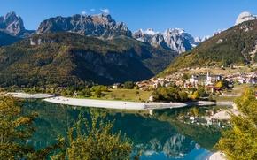 Picture mountains, lake, Italy, Italy, Trentino Alto Adige, Molveno, Molveno Lake