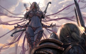 Picture thighs, World of Warcraft, World of Warcraft: Battle for Azeroth, Anduin Wrynn, fantasy art, digital ...