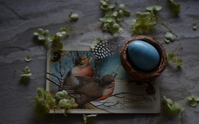 Picture Egg, Easter, Holiday, Postcard