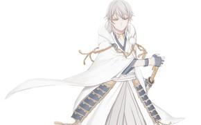 Picture background, anime, art, guy, Touken Ranbu, Dance Of Swords