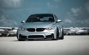 Picture BMW, Clouds, Sky, Silver, F80, Sight