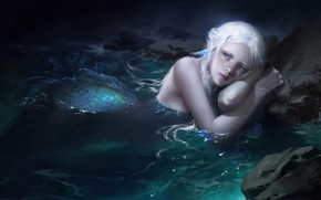 Picture look, water, mermaid, art, tail, fantasy