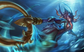 Picture water, nami, art, lol, League of Legends, the tidecaller